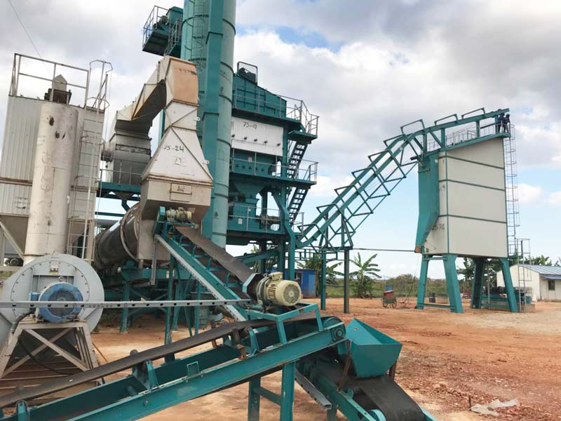 Xitong asphalt plant successfully completed the installation and acceptance in Congo (DRC)